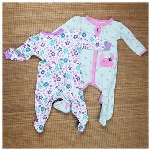 🛍2 Baby Girls Pajamas
